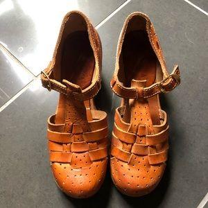 Vintage Leather Clogs
